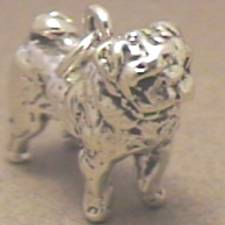 Sterling Silver Pug Charm 1116x78 Timewell