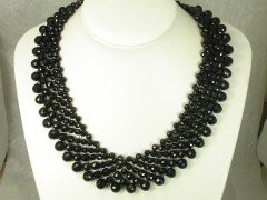 Black Round Chinese Crystal Necklace